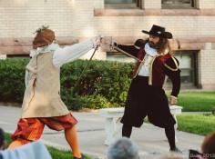 A little shrewish swordplay. Funny. They don't look shrewish.