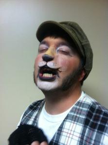 Lion makeup complete